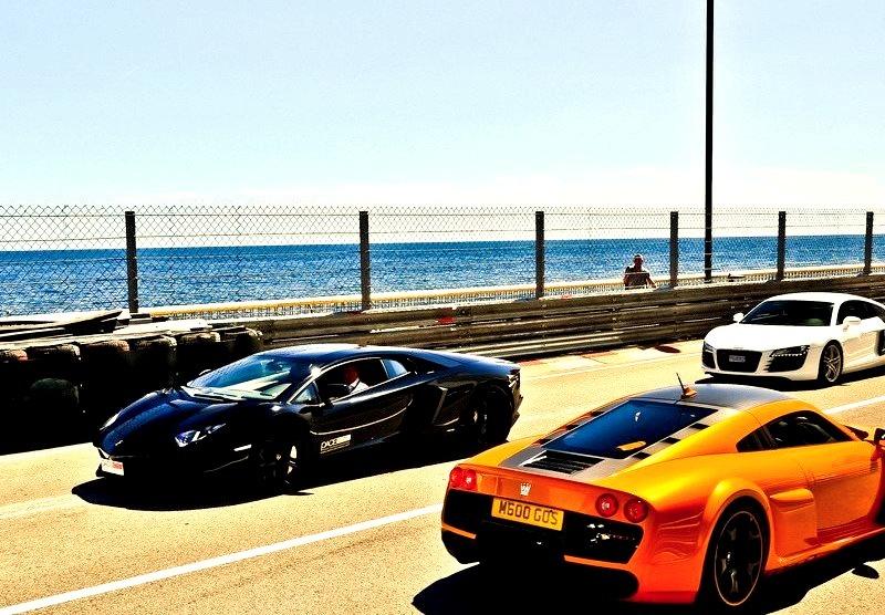 Noble M600, Lamborghini Aventador and Audi R8