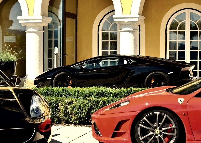 Lamborghini Aventador, Ferrari California & Ferrari F430 Spider
