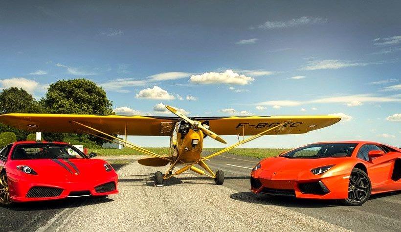 Ferrari F430 Scuderia and Lamborghini Aventador